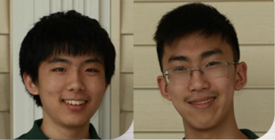 Ethan Wu (left) and Daniel Xue (right)