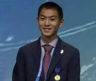 Alex Zhang at the 2019 ISEF Award Ceremony