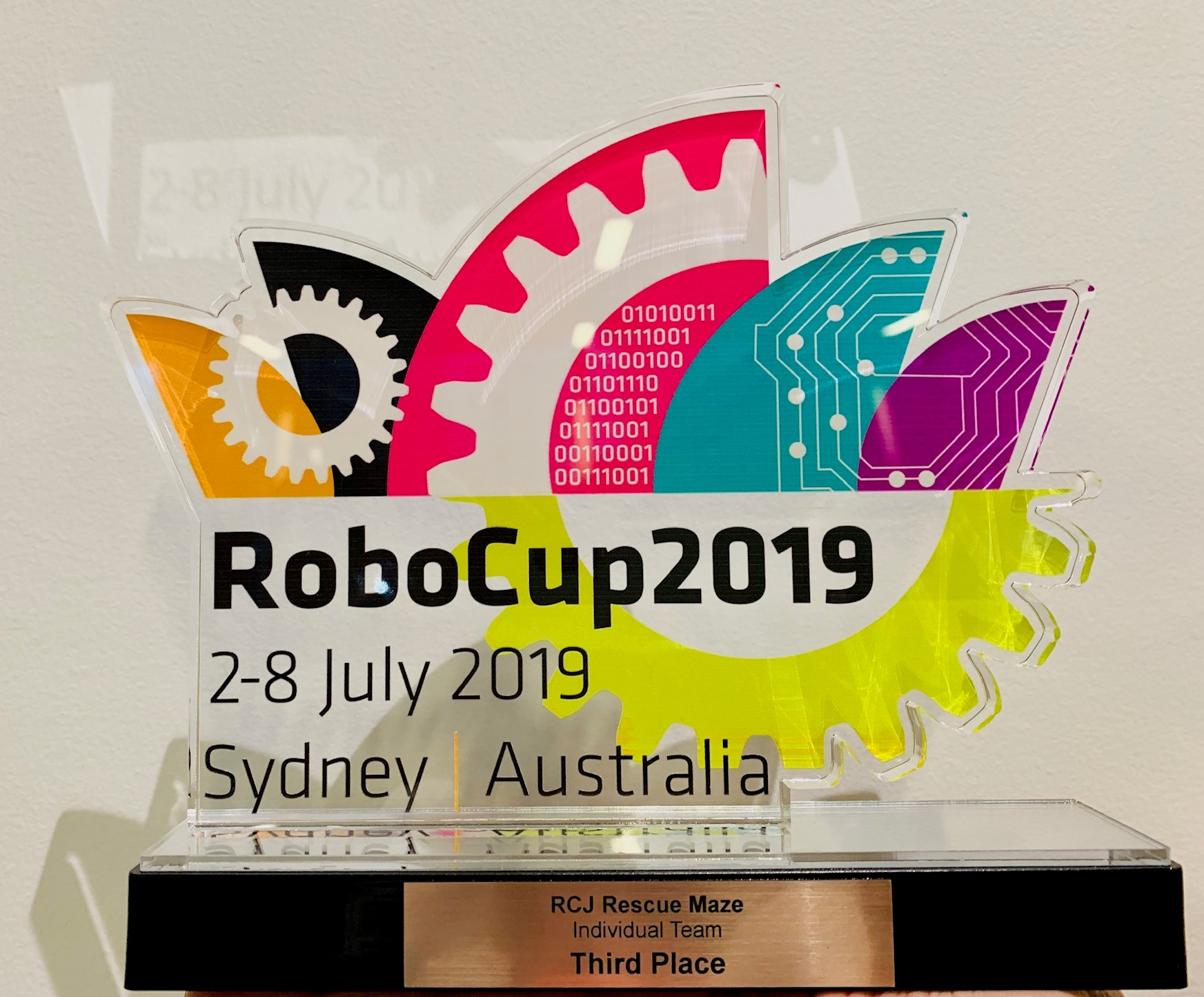 2019 World RCJ 3rd Place Trophy